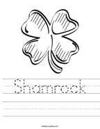 Shamrock Handwriting Sheet