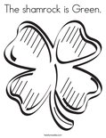 The shamrock is Green.Coloring Page