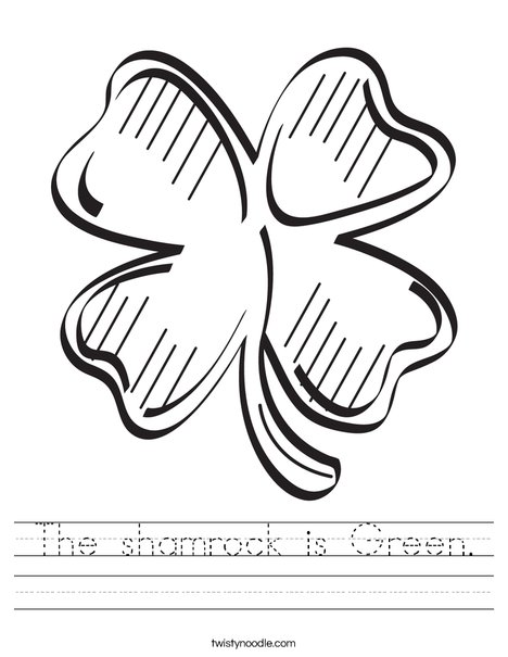 Shamrock Worksheet
