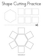 Shape Cutting Practice Coloring Page