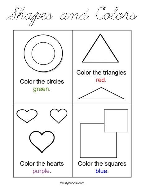 Shapes and Colors Coloring Page