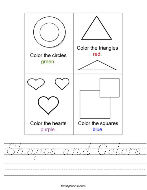 Shapes and Colors Worksheet
