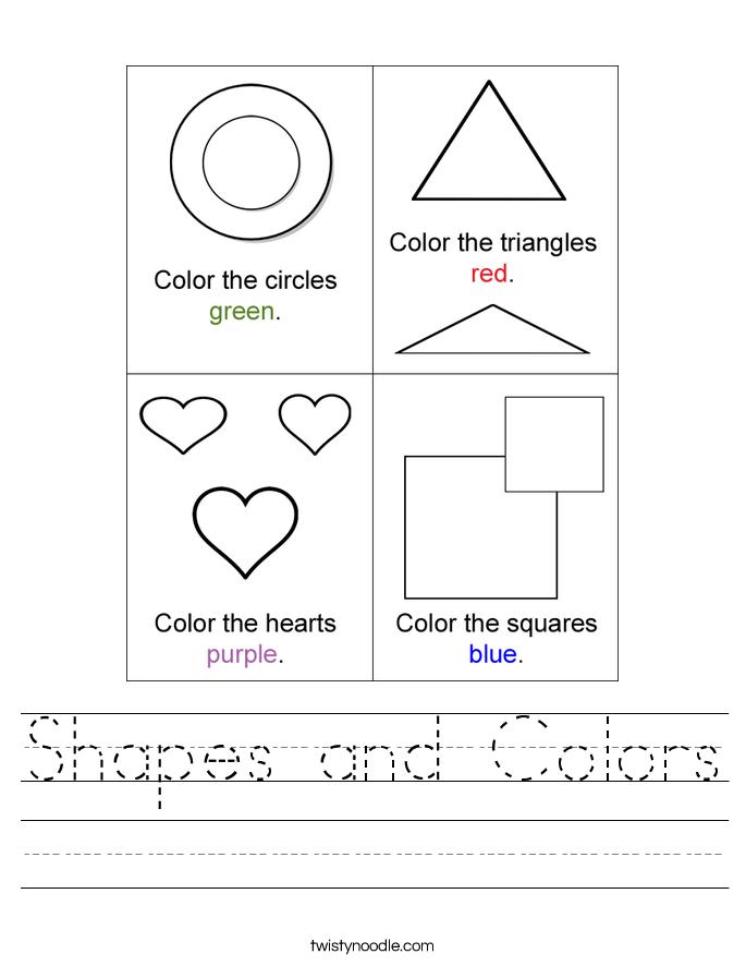 shapes and colors worksheet twisty noodle. Black Bedroom Furniture Sets. Home Design Ideas