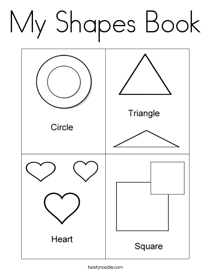 My shapes book coloring page twisty noodle Sesame Street Shapes Worksheets Dinosaur Coloring by Number Page Coloring Pages Color Green