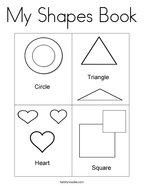 My Shapes Book Coloring Page