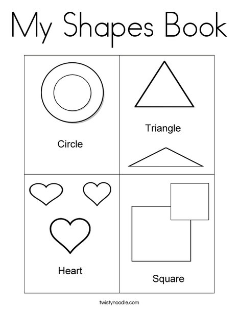 shapes mini book coloring page - Coloring Pages Shapes