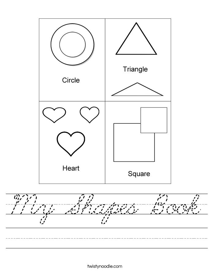 My Shapes Book Worksheet