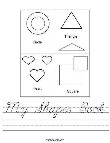 Shapes Mini Book Worksheet