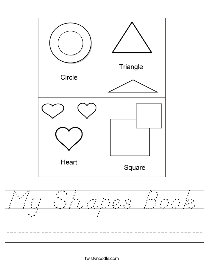 My Shapes Book Worksheet