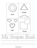 My Shapes Book Handwriting Sheet