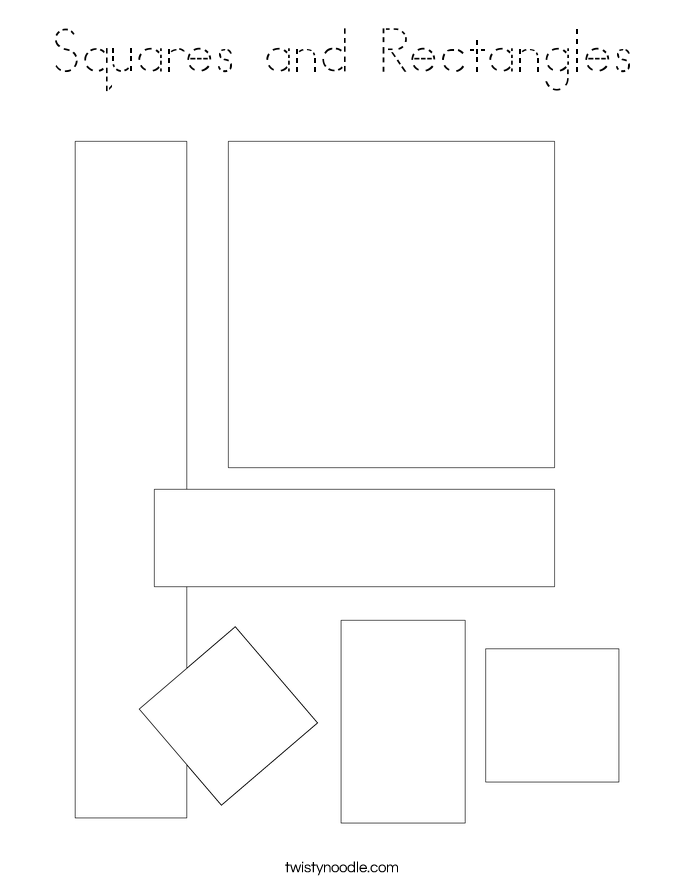 Squares and Rectangles Coloring Page