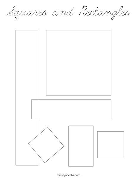 Shapes with lines Coloring Page