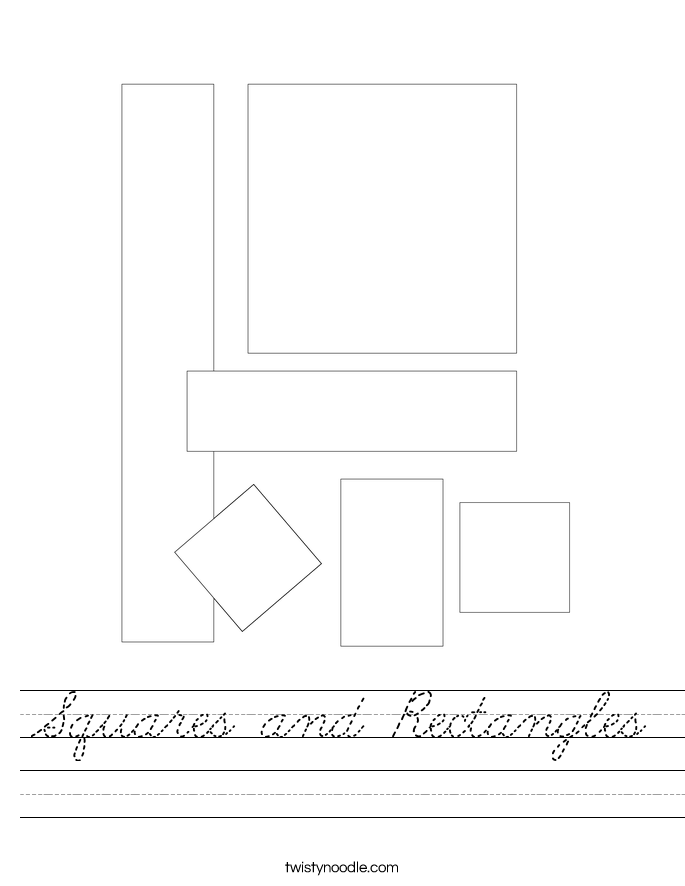 Squares and Rectangles Worksheet