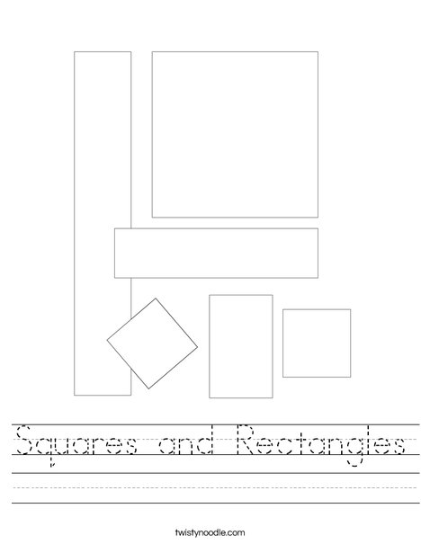 Shapes with lines Worksheet