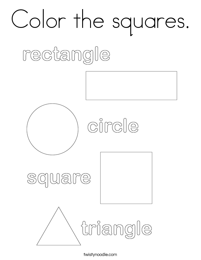 Color the squares. Coloring Page