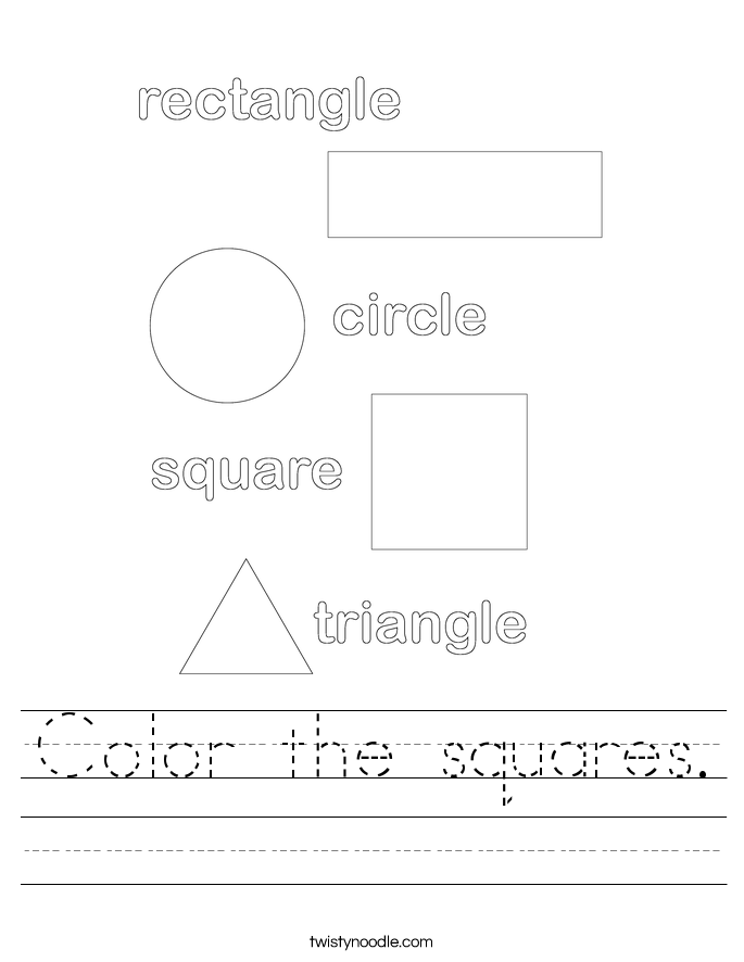 Color the squares. Worksheet
