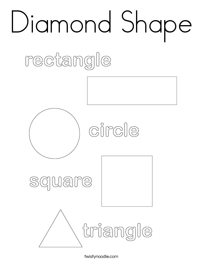 Diamond shaped coloring pages fox coloring pages for Diamond coloring page