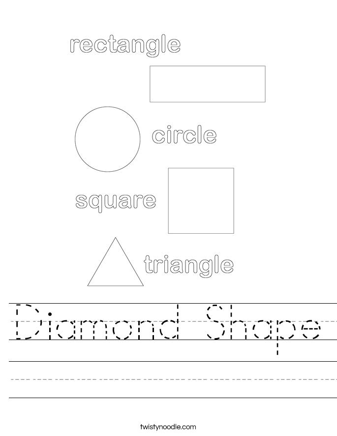 Diamond Shape Worksheet - Twisty Noodle