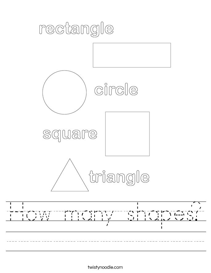 How many shapes? Worksheet