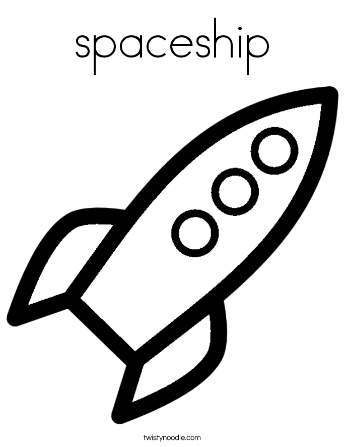 rocket ship Coloring Page Twisty Noodle