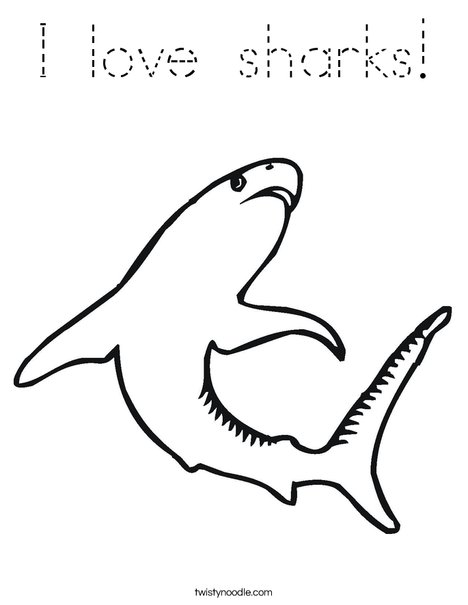 Swimming Shark Coloring Page