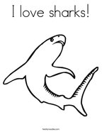 I love sharks Coloring Page