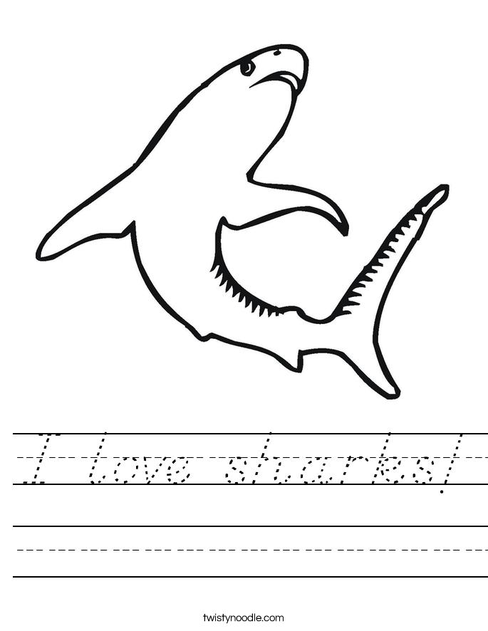 I love sharks! Worksheet