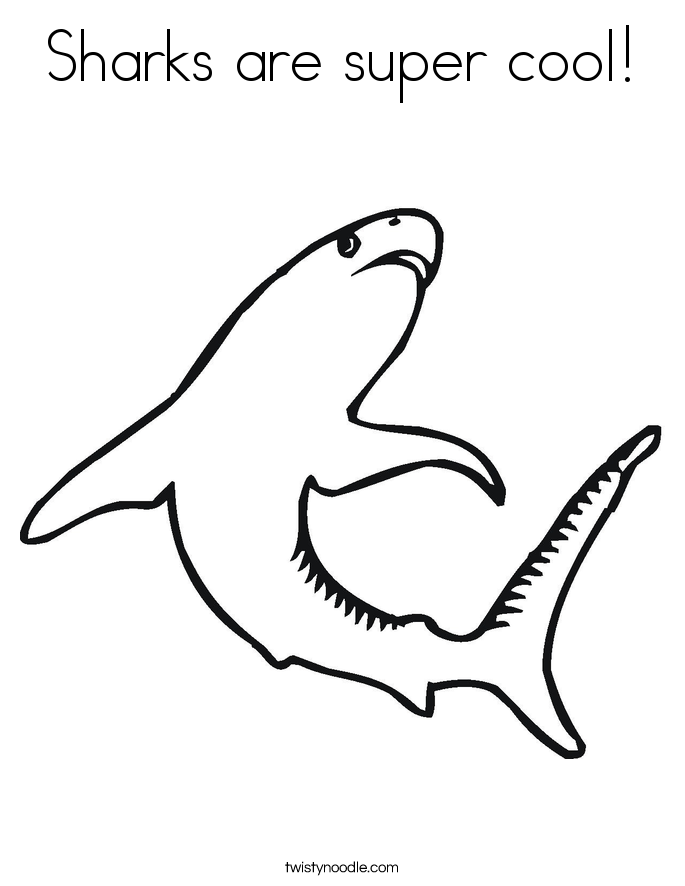 Sharks are super cool! Coloring Page