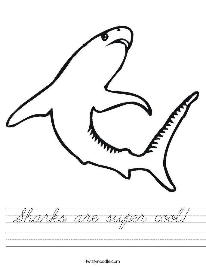 Sharks are super cool! Worksheet