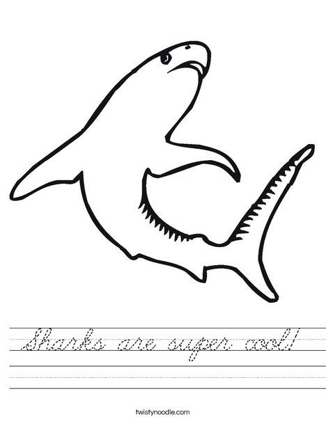 Swimming Shark Worksheet