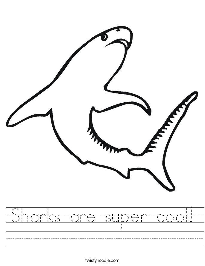 Sharks are super cool! Worksheet