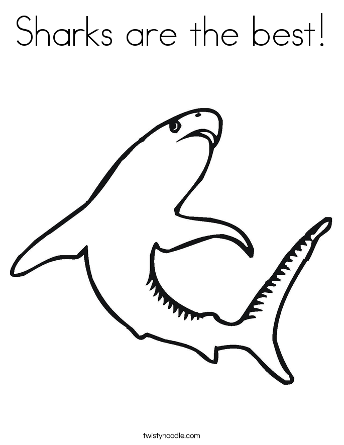 Sharks are the best! Coloring Page