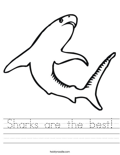 Swimming Shark Worksheet