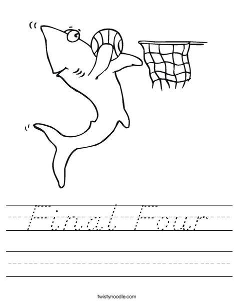 Sharks love Basketball! Worksheet