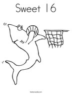 Sweet 16 Coloring Page