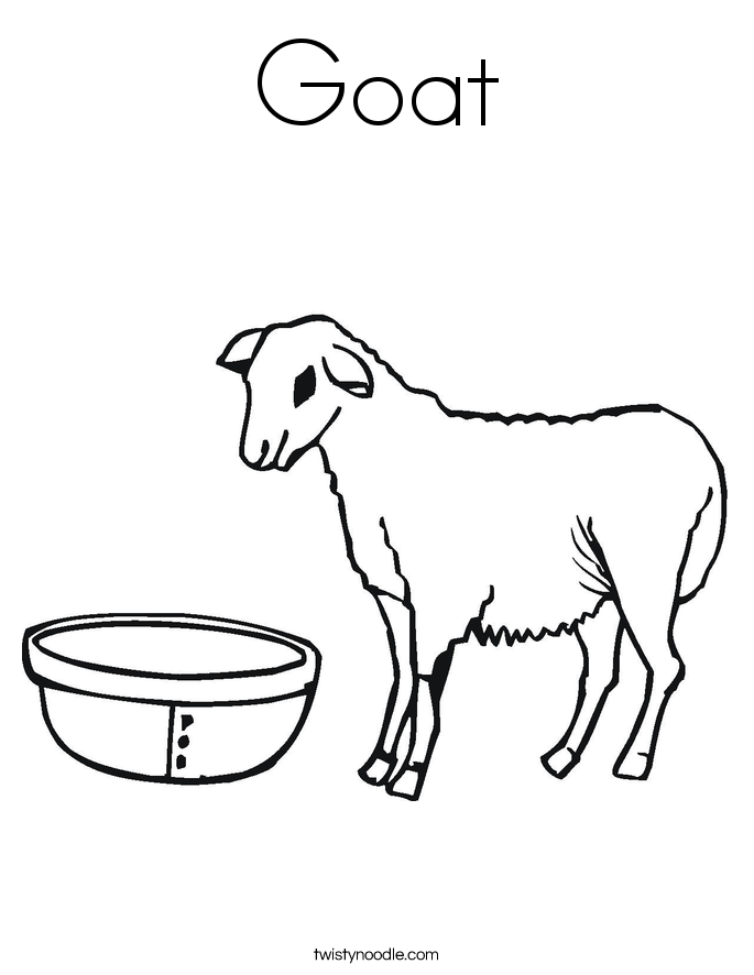 g for goat coloring pages - photo #32