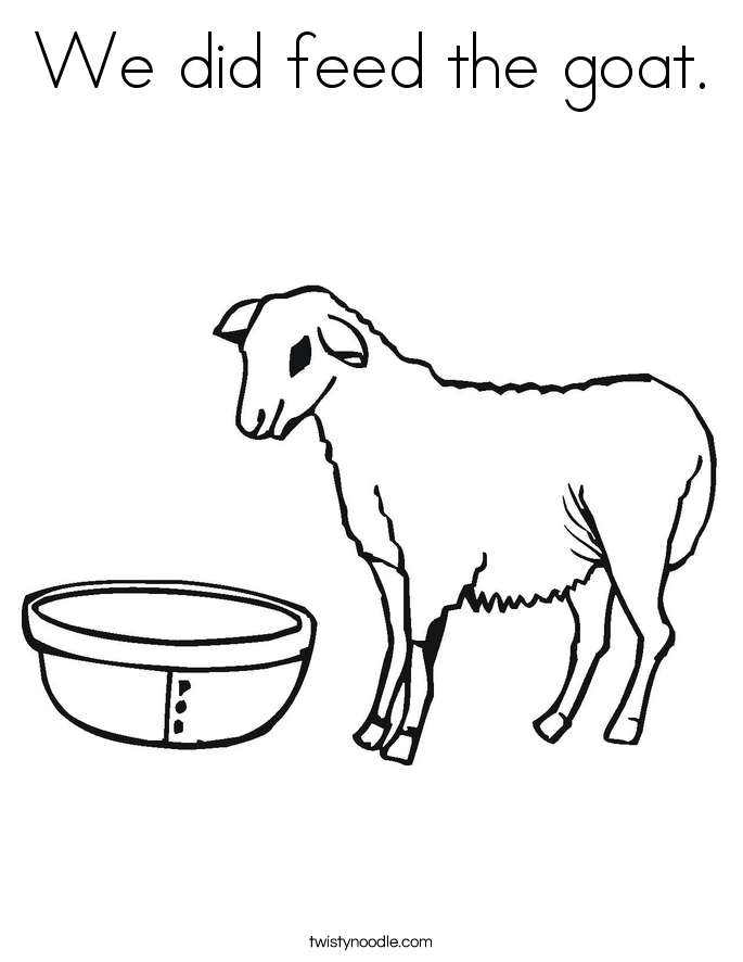 We did feed the goat. Coloring Page
