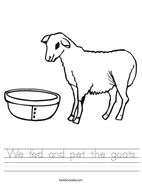 Goat Worksheet