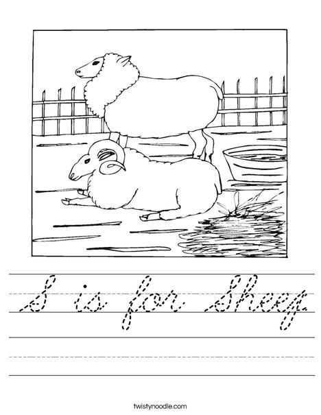 Sheep and Ram Worksheet