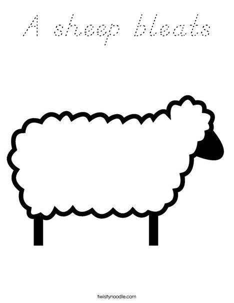 Sheep Coloring Page
