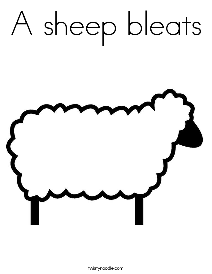 A sheep bleats Coloring Page