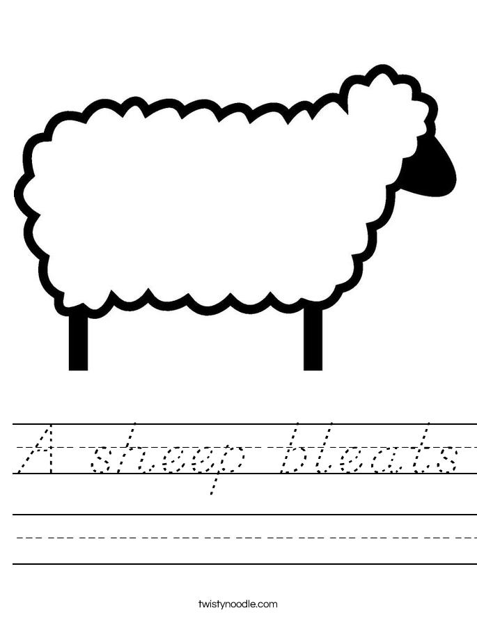 A sheep bleats Worksheet