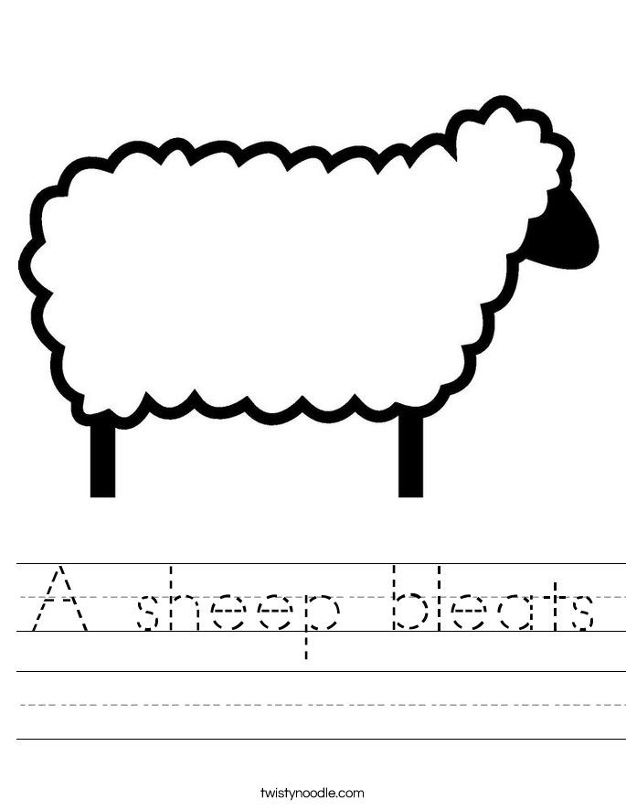 A sheep bleats Worksheet
