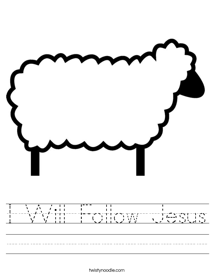 I Will Follow Jesus Worksheet
