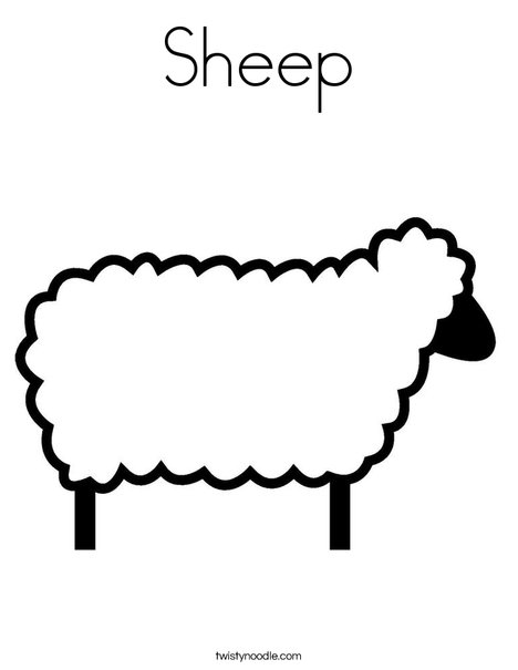 Sheep Coloring Page - Twisty Noodle