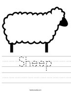 Sheep Handwriting Sheet