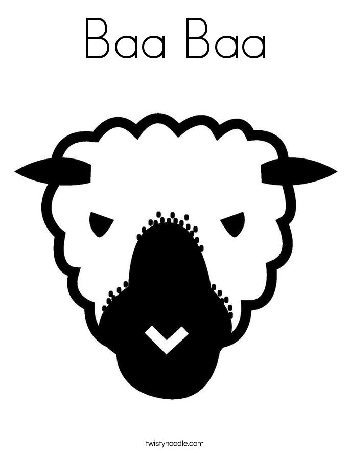 Baa Baa Coloring Page