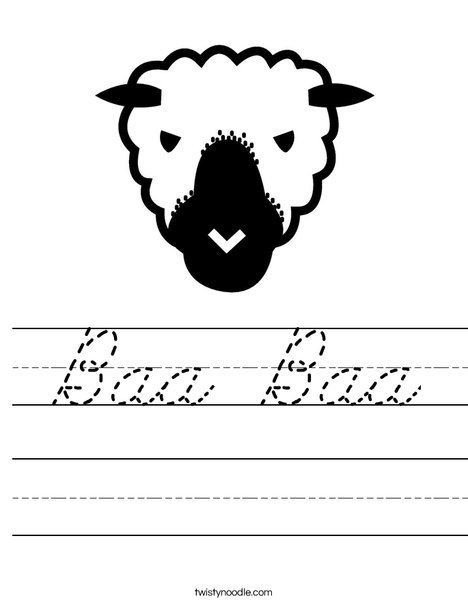 Sheep Head Worksheet