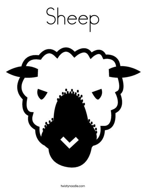free sheep head coloring pages | Sheep Coloring Page - Twisty Noodle