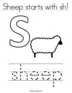 Sheep starts with sh Coloring Page